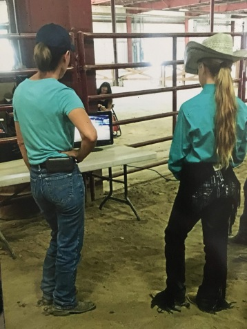 Shannon and Shelby watching Shelby's ride!